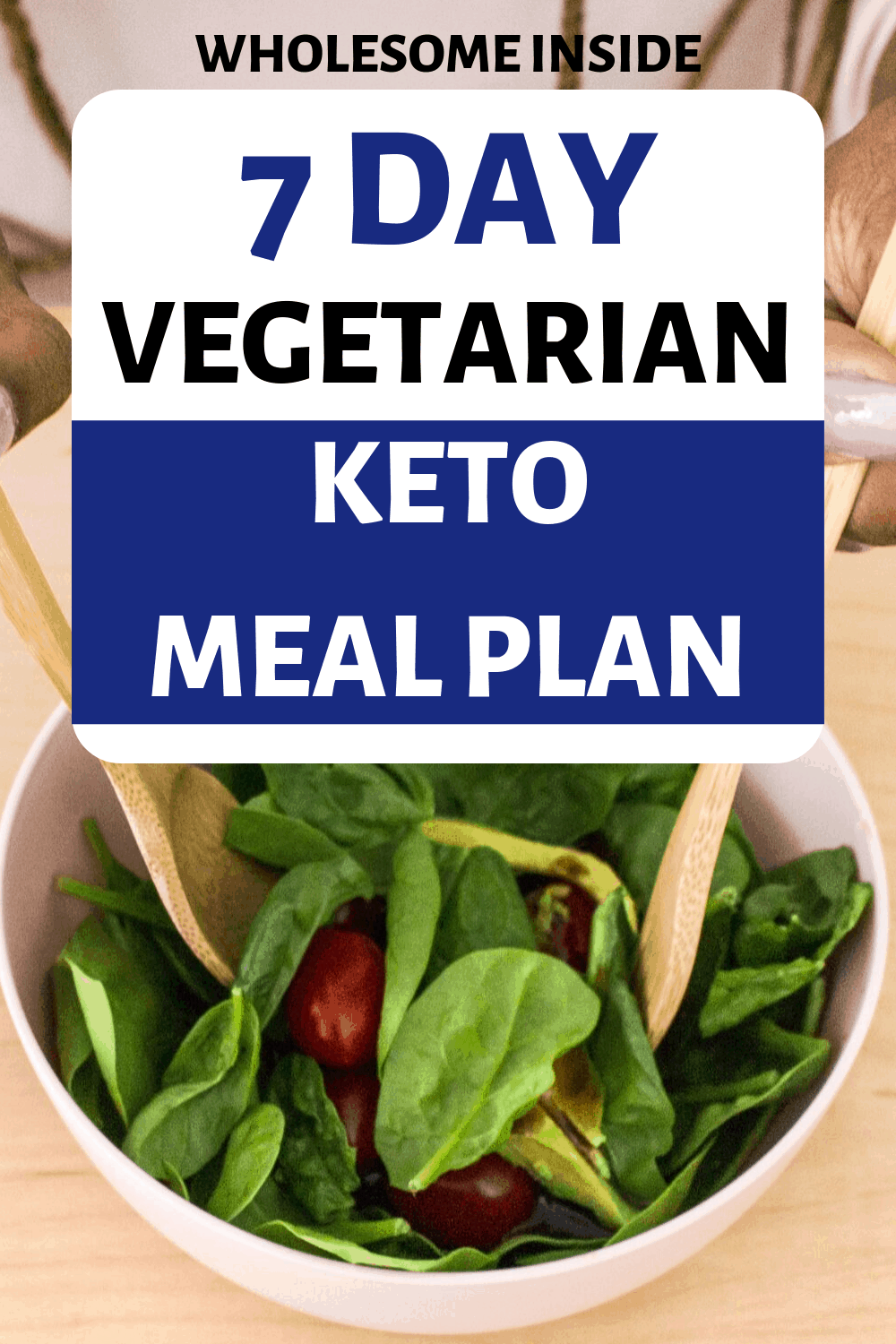 Vegetarian meal plan for those that are vegetarian and on the Keto diet.