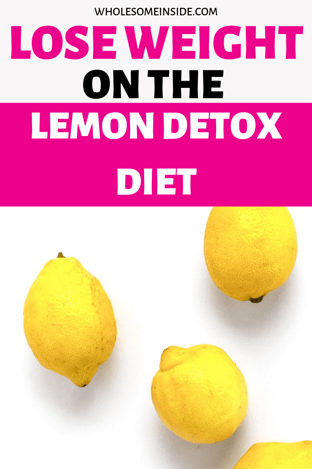 The lemon detox diet to lose weight. The recipe for the master cleanse
