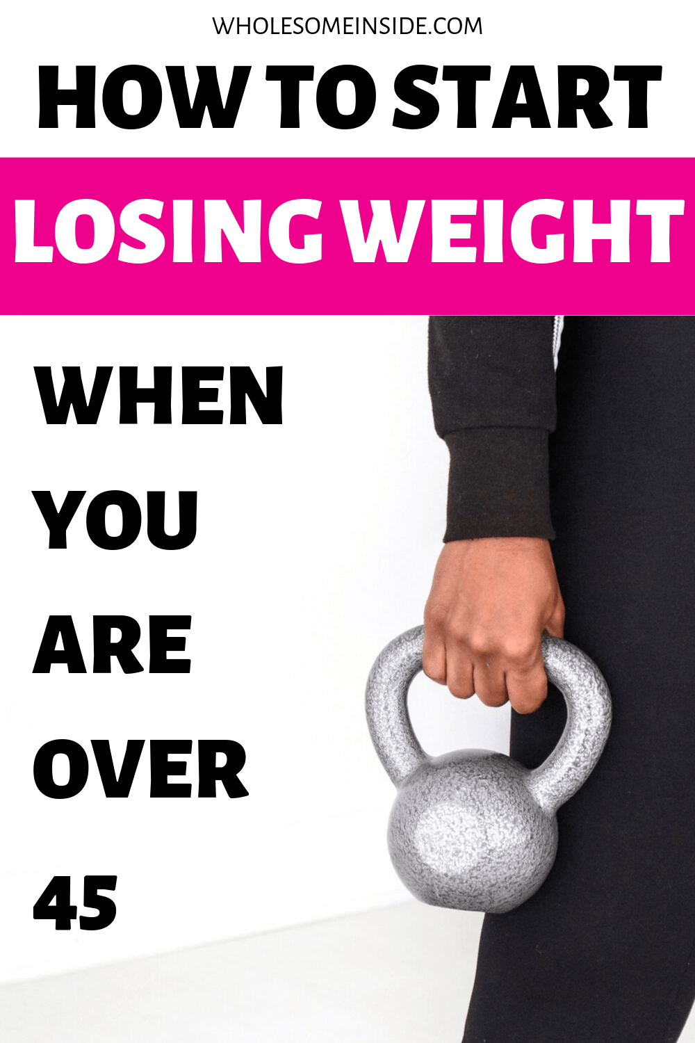 How to lose weight when you are over 45