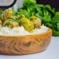 Instant Pot Cilantro Meatballs