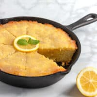 11. Keto Lemon Skillet Cake