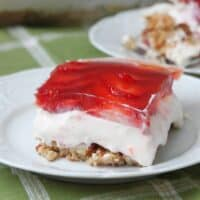 "Low Carb Strawberry ""Pretzel"" Dessert"