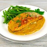 Cajun Salmon Alfredo - Keto and Low Carb