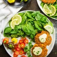 Low Carb Southern Salmon Patties with Sriracha Aioli