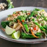 The Easiest Vegan Pad Thai