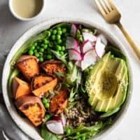Vegan Power Bowl with Lemon Tahini Dressing
