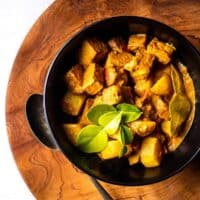 Balinese tempeh and potato curry