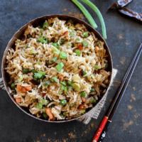 Indian Fried Rice (Vegan)