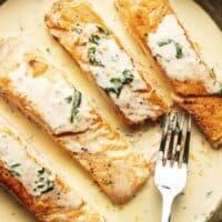Keto Creamy Lemon Garlic Salmon Recipe