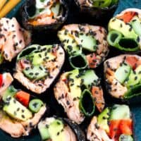 Sushi Rolls With Nori, Salmon & Avocado