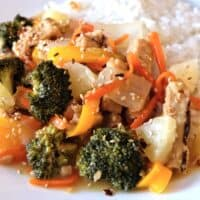 Vegan Stir Fry – Sweet & Sour Veggies With Sticky Rice In The Instant Pot