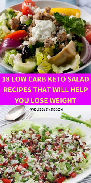 KETO SALAD, LOW CARB SALAD, KETO DIET KETOSIS